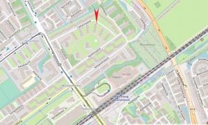 Kaart Mariahoeve - Clubhuis Veron Den Haag afdeling a18